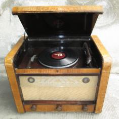 Colectii - 1942 Radio vechi cu patefon ( gramofon ) Philips 650 GA