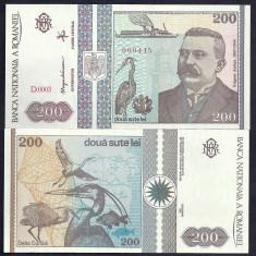 Bancnote Romanesti, An: 1992 - ROMANIA 200 LEI 1992 UNC [1] necirculata
