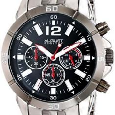 August Steiner Men's AS8111SSB Chronograph | 100% original, import SUA, 10 zile lucratoare a12107 - Ceas barbatesc August Steiner, Quartz