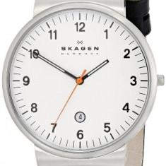Klassik Three-Hand Date Leather Watch | 100% original, import SUA, 10 zile lucratoare a12107 - Ceas barbatesc Skagen, Quartz
