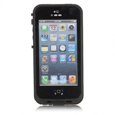 Toc subacvatic negru waterproof cu prelungitor casti iPhone 5 - Husa Telefon, iPhone 5/5S/SE, Plastic