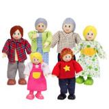 Hape Familie de 6 membri (albi) - Jocuri Stiinte