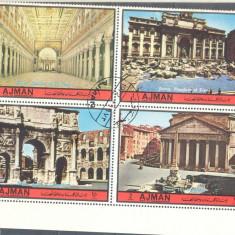 Ajman Cladiri din Roma serie stampilata 1972 - Timbre straine, Arta