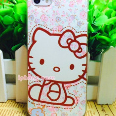 Husa Iphone 5g/5s Hello Kitty, iPhone 5/5S, Transparent