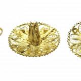 Set cercei brosa argint filigran, model sombrero mexican, lucrati manual, vintage - Cercei argint