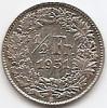 Monede Straine, Europa, An: 1951 - Elvetia 1/2 Franc 1951 Argint 2.5g/0.835 KM-23