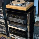 Combina audio - Rack audio sticla-otel --black--reVox, akai, teac