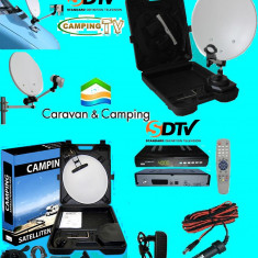 Sistem complet satelit - Antena tv Camping, Rulota sau Camion M5