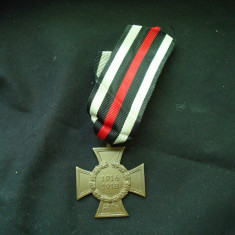 Decoratie (medalie) germana Crucea Hindenburg 1914 - 1918 WW1 originala