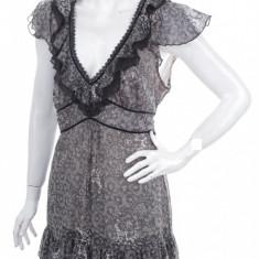 Bluza eleganta, marca Jasper Conran Debenhams, femei mas L - Bluza dama Debenhams, Marime: 42/44, Culoare: Negru, Maneca scurta, Poliester