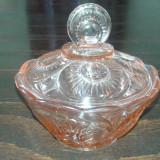 Bomboniera veche de semicristal sticla 2+1 GRATIS