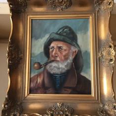 Tablou pictat cu ulei pe panza i cu rama din lemn cu semnatura 46cm/40cm, Istorice, Art Deco