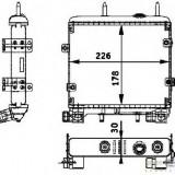 Radiator auto ulei - Radiator ulei ulei motor MERCEDES BENZ E CLASS W210 PRODUCATOR HELLA 8MO 376 725 281