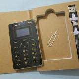 Telefon mobil, Negru, Nu se aplica, Neblocat, Fara procesor, Nu se aplica - Mini Telefon MOOC X5 Telefon mini MOOC X5 telefon 0.96 inch Ultra Thin Phone
