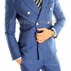 Costum tip ZARA- sacou + pantaloni - costum barbati carouri - 4601
