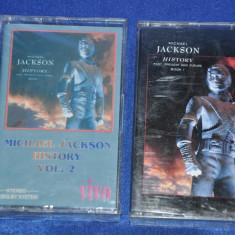 2 Casete audio MICHAEL JACKSON - History Vol. 1 si 2. De colectie! - Casetofon