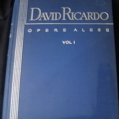 Carte afaceri - OPERE ALESE-VOL1- DAVID RICARDO-333PG-A 4-