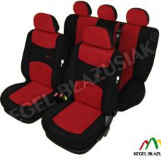 Husa Auto - Set huse scaune auto SportLine Rosu pentru Vw Golf 2, Golf 3 Golf 4, Golf 5, Golf Plus - SHSA1935