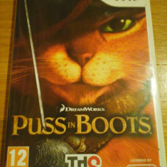 JOC WII DREAMWORKS PUSS IN BOOTS ORIGINAL PAL / by DARK WADDER - Jocuri WII Thq, Actiune, 12+, Single player