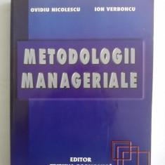 Carte Management - Metodologii manageriale / Ovidiu Nicolescu si Ion Verboncu / C46P