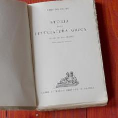 Carte L Italiana - Carlo de l Grande / Storia della letteratura greaca - 1939 !! - Carte Literatura Italiana