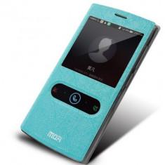 Husa MOFI S-VIEW ORANGE NURA bonus FOLIE PROTECTIE - Husa Telefon Orange, Albastru, Cu clapeta