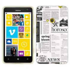 Husa Nokia Lumia 625 Silicon Gel Tpu Model Newspaper - Husa Telefon