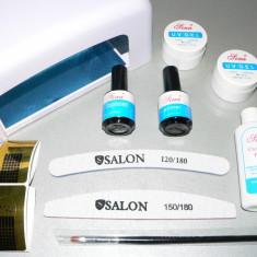 Unghii false - KIT/SET Profesional cu Lampa UV- Unghii cu Gel