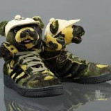 Adidasi barbati, Textil - Adidas Jeremy Scott Bear Camo - marimea 44 - originali 100 % in cutie