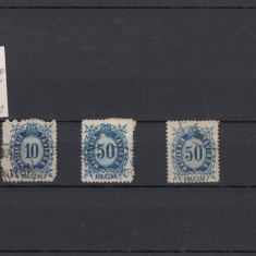 UNGARIA - 1875 TELEGRAF, LOT 3 TIMBRE USED - LOT 1 ST