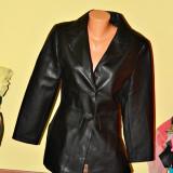 geaca jacheta dama imitatie de piele negru MAR S-M