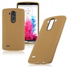 Carcasa de protectie soft TPU pentru LG Optimus G3 - husa acopera toate marginile, nu aluneca din mana - culoare: GOLD - Husa Telefon LG, Auriu, Gel TPU