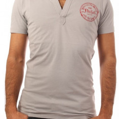 Tricou Polo DIESEL T Barbati - Tricou barbati Diesel, Marime: S, XL, Culoare: Gri, Maneca scurta, Bumbac