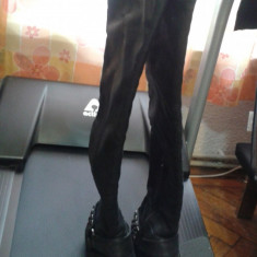 Cizme dama, Piele sintetica - Cizme lungi, negru, cu tinte, mar 37.5, superbe