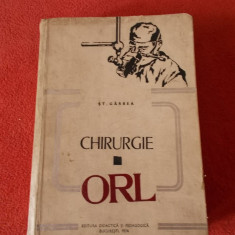 CHIRURGIE ORL - GARBEA, ANUL 1974 . - Carte ORL