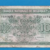 Belgia 10 francs franci 1943 - bancnota europa