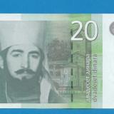 bancnota europa - Serbia 20 dinara 2011 UNC