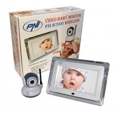 Resigilat - Video Baby Monitor PNI B7000 ecran 7 inch wireless