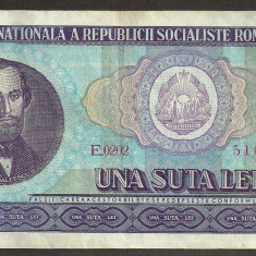 Bancnote Romanesti, An: 1966 - ROMANIA 100 LEI 1966 [3] XF