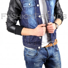Geaca barbati - Geaca de blugi tip ZARA - geaca slim fit - geaca fashion - geaca de blugi 3817