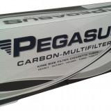 Tuburi PEGASUS CU CARBON ACTIV 200 tuburi, filtre / cutie, pentru injectat tutun, tigari