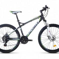 Mountain Bike - Bicicleta MTB Hardtail, Sprint, GTS 2.0, Aluminiu, Negru-Alb-Verde, 21V SPRINT