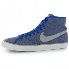 Tenesi Nike Primo Canvas Mid Mens Trainers marimea 42, 5 - Adidasi barbati Nike, Culoare: Albastru, Textil