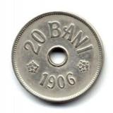 Monede Romania - ROMANIA 20 BANI 1906 J STARE FOARTE BUNA