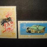 L.P.610 - AL XX-LEA CONGRES INTERNATIONAL DE APICULTURA SERIE MNH ANUL 1965