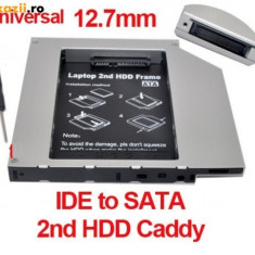 Hard disk HDD caddy) adaptor de la unitate optica la hardisk (IDE) - Suport laptop