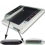 12.7mm IDE-SATA 2nd HDD caddy adaptor de la unitate optica  IDE la hardisk SATA  sau SSD, adaptor rack SSD , HDD