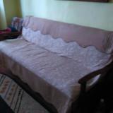 Pat dormitor, Dublu, Fag, Pat colt - Vand urgent pat tip recamier model vechi, extensibil, 2 persoane, in stare buna