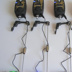 Set 3 Avertizori Digitali Baracuda TLI21 + 3 Swingere cu led - Avertizor pescuit Baracuda, Electronice