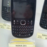 Telefon Nokia, Negru, Nu se aplica, Neblocat, Fara procesor, Nu se aplica - NOKIA 201 /Liber de retea (LAG)